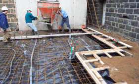 Concrete Crane Onto Slab